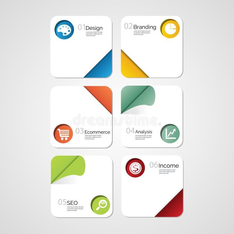 Zahl-Fahnenschablone des Designs saubere lizenzfreie abbildung