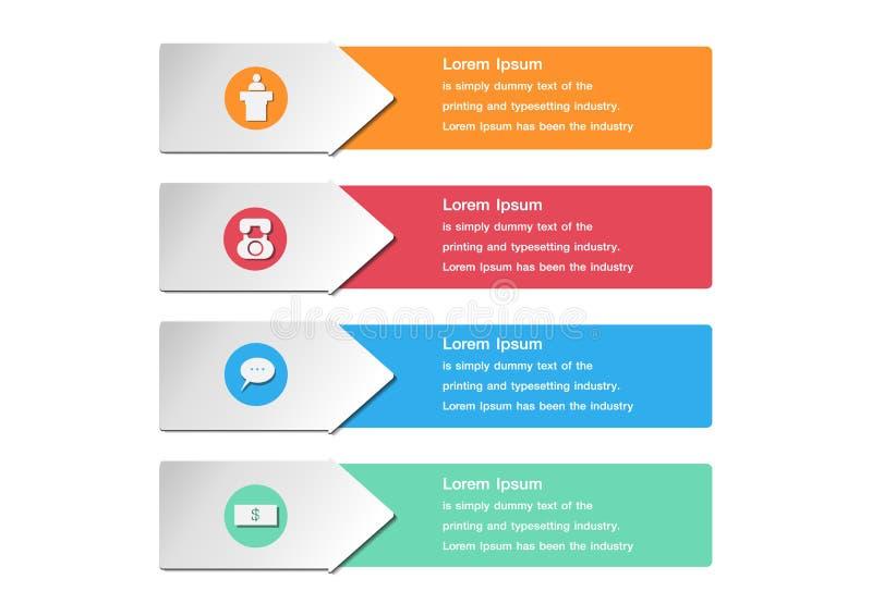 Zahl-Fahnenschablone des Designs saubere Grafik- oder Websiteplan stock abbildung