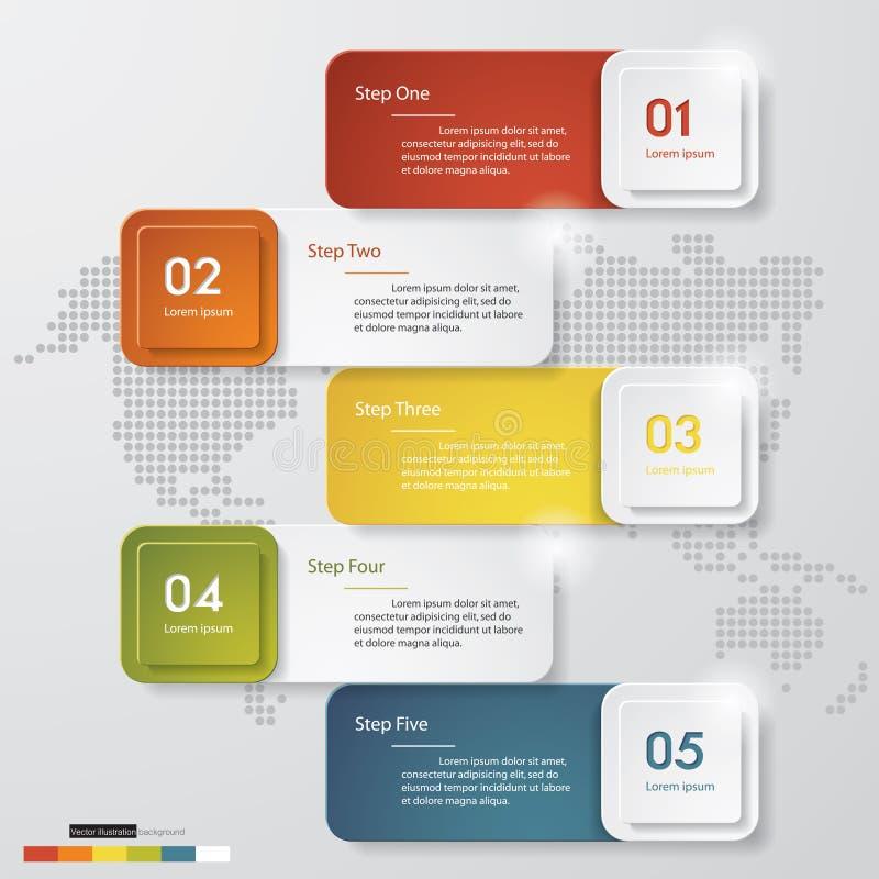 Zahl-Fahnenschablone des Designs saubere Vektor lizenzfreie abbildung