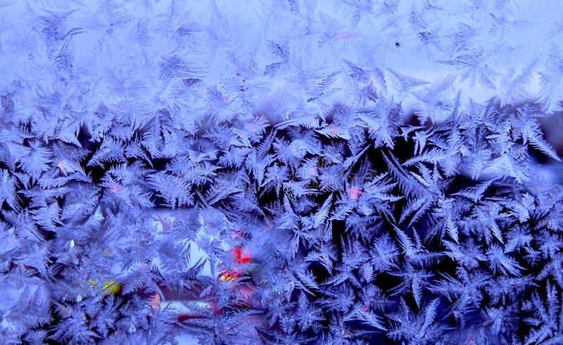Zahl Frost auf den Fenstern stockbild