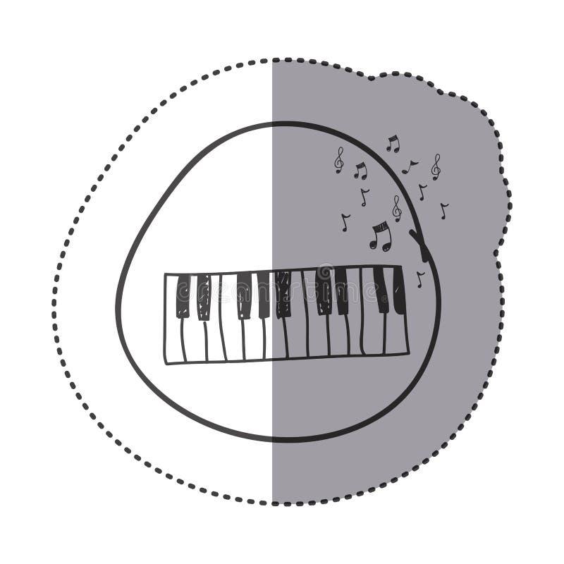 Zahl Klavierinstrument mit Anmerkungsmusicalikone lizenzfreies stockfoto
