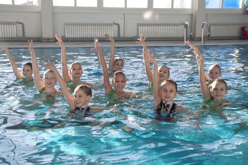 Zahl Schwimmen für Kinder stockfoto