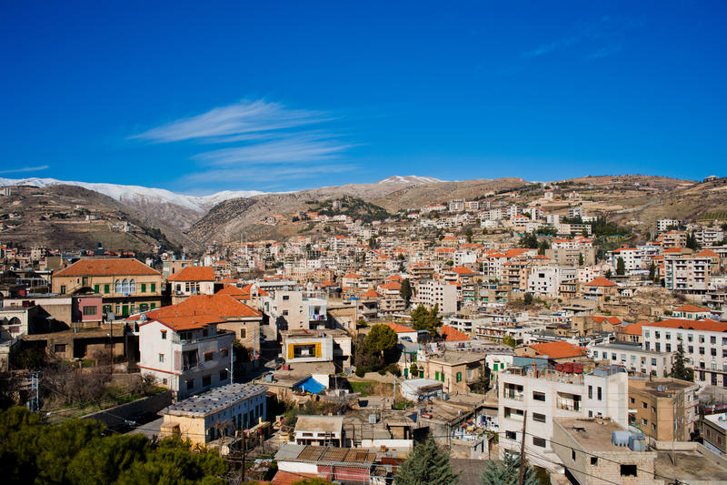 Zahle, Bekaa Vallei, Libanon. stock afbeelding