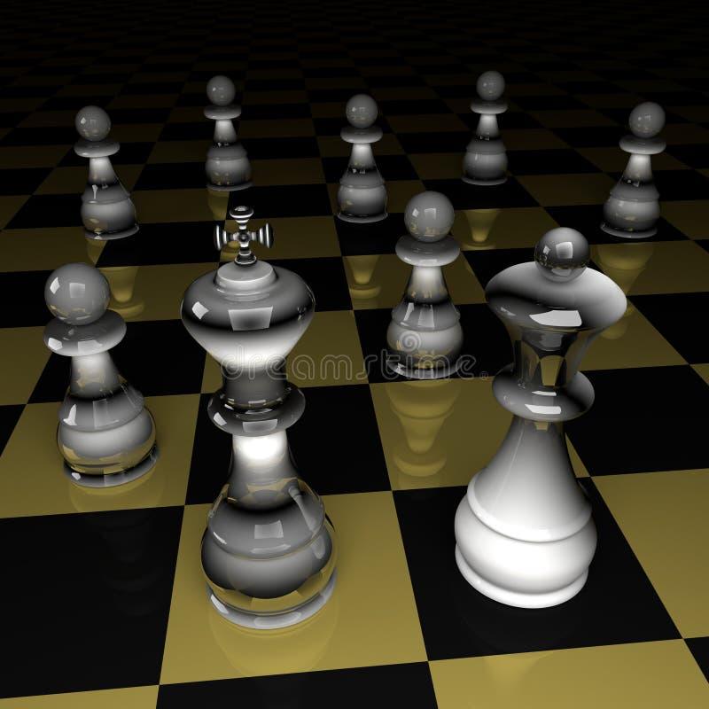 Zahlen des Schachs lizenzfreie stockbilder