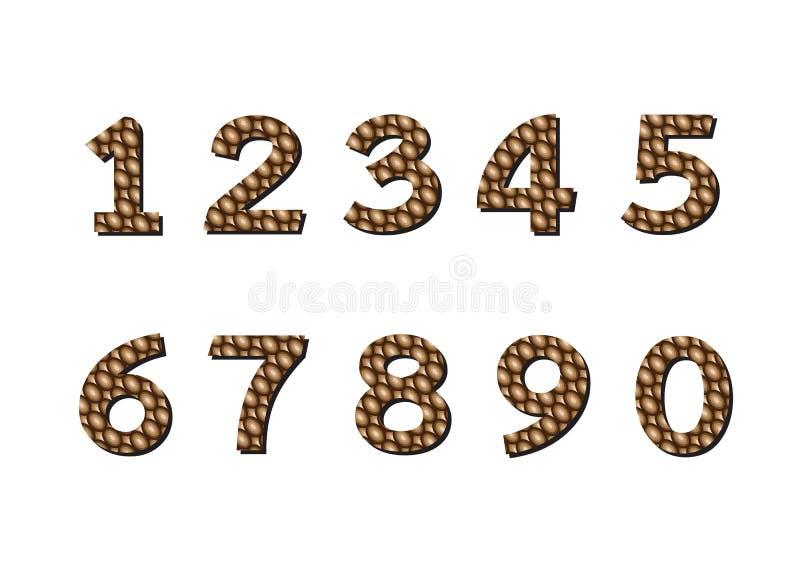 Zahlen eingestellt Abbildung stock abbildung