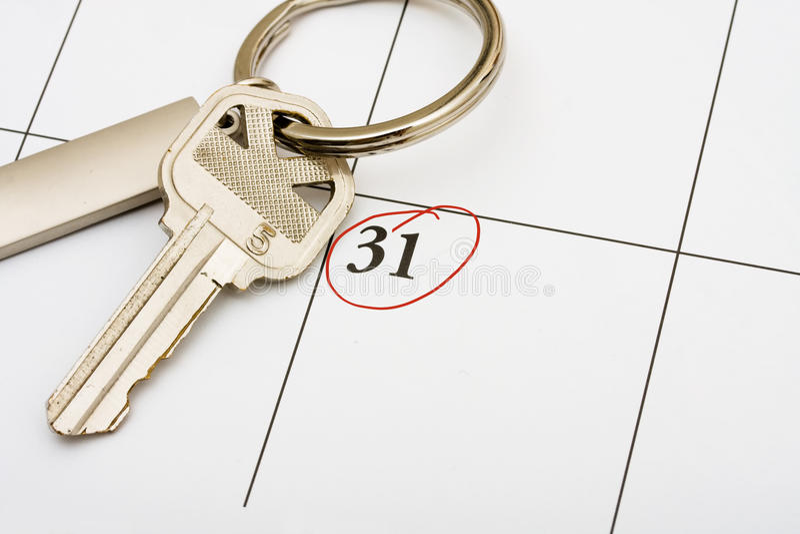 Zahlen Ihrer Hypothek rechtzeitig lizenzfreies stockbild