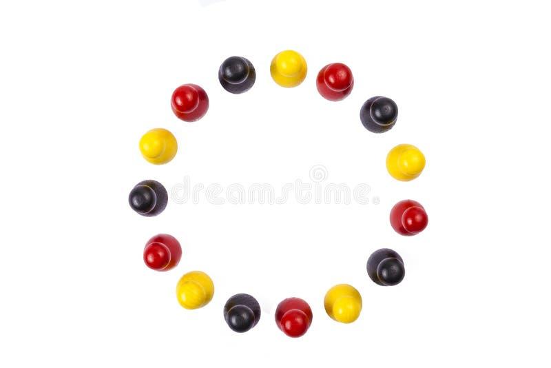 Zahlen schwarzes rotes Gold lizenzfreies stockfoto