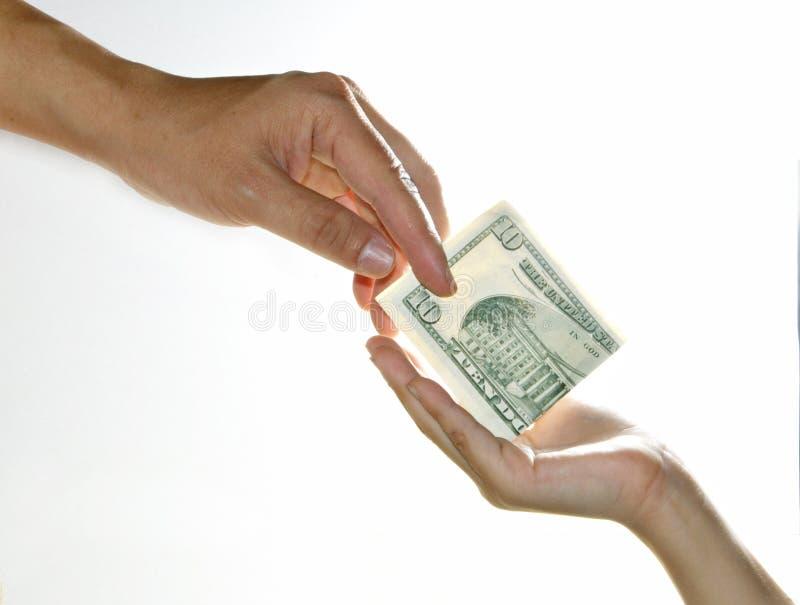 Zahlen Sie Geld lizenzfreie stockfotos
