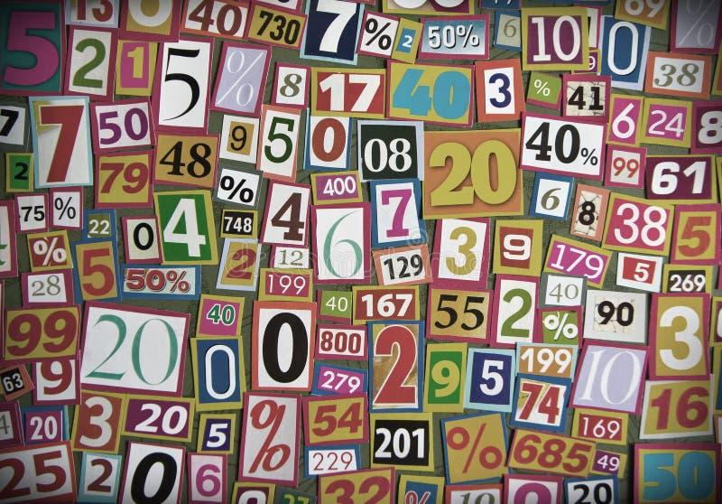 Zahlen und Prozentsätze lizenzfreie stockbilder