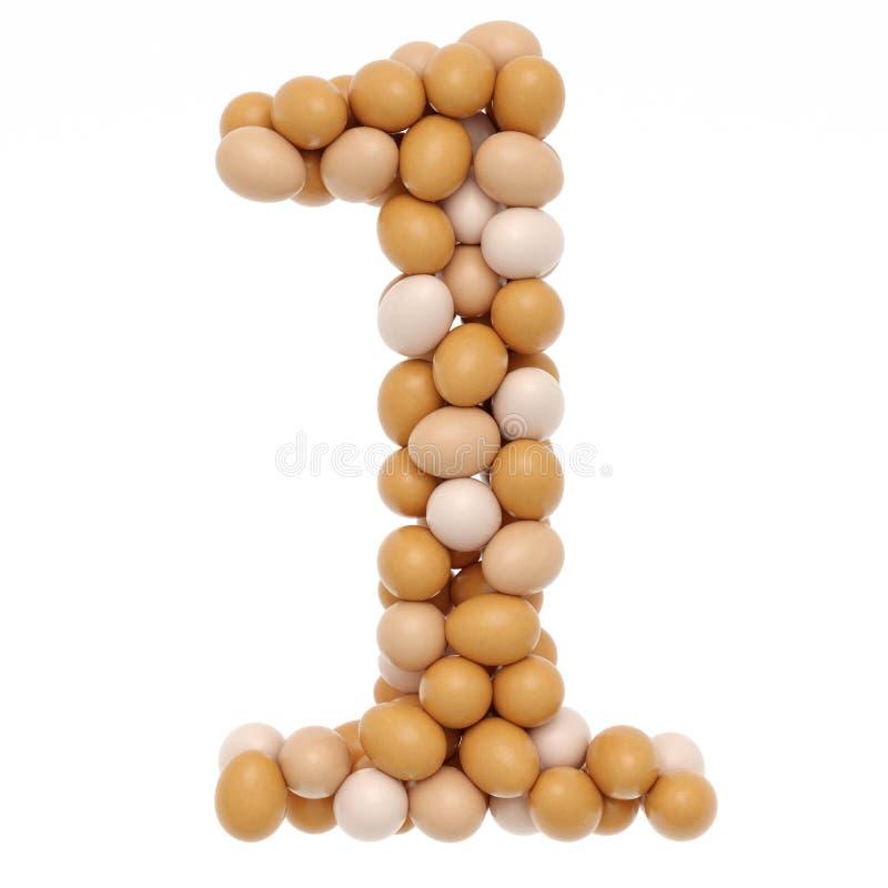 Zahlen von den Eiern stockfotografie