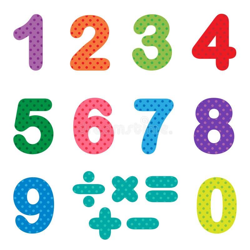 Zahlen von null bis neun lizenzfreie abbildung