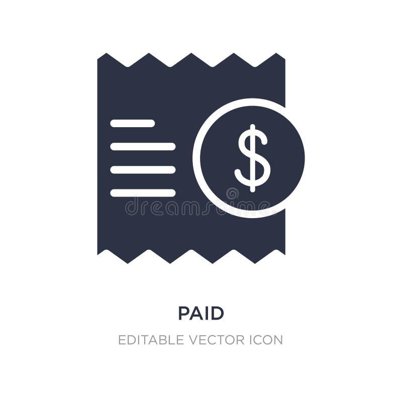 Zahlende Ikone auf weißem Hintergrund Einfache Elementillustration vom Multimediakonzept lizenzfreie abbildung