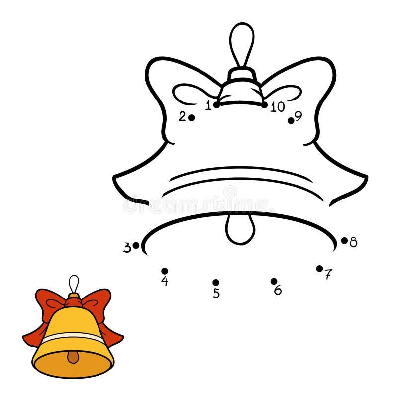 Zahlenspiel für Kinder Weihnachtsspielwaren, Glocke stock abbildung