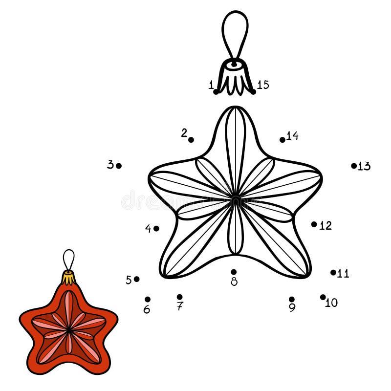 Zahlenspiel für Kinder Weihnachtsspielwaren, Stern stock abbildung