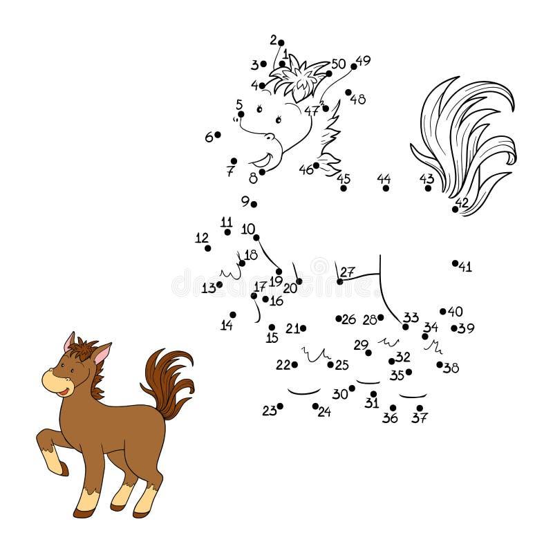 Zahlenspiel (Pferd) stock abbildung