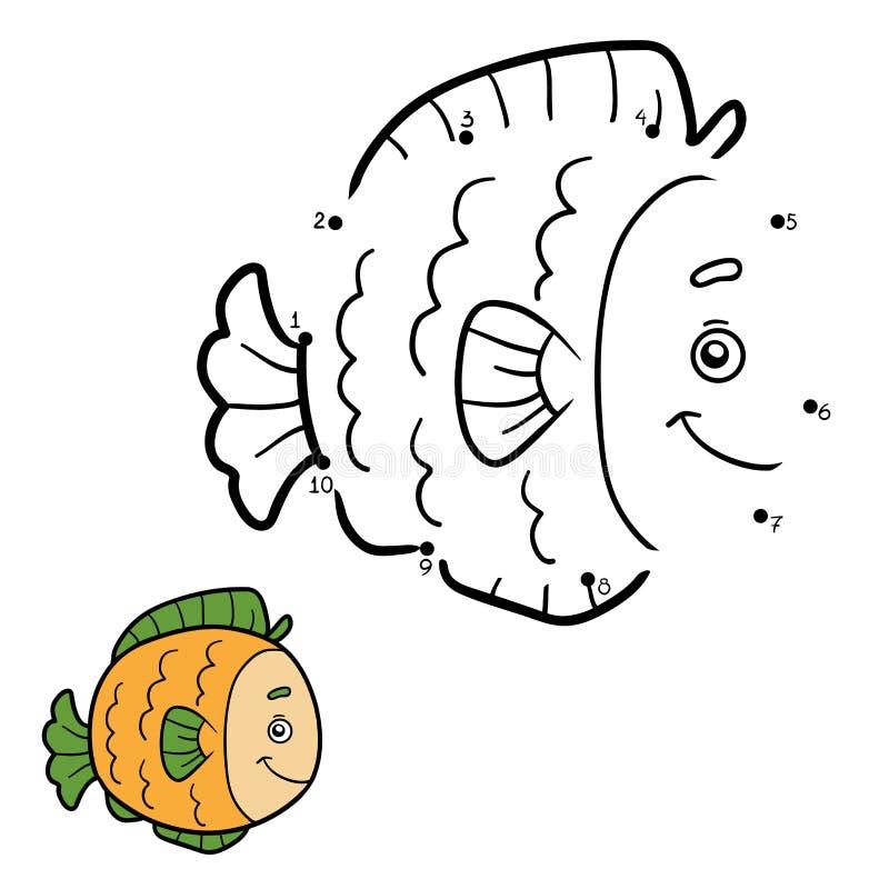 Zahlenspiel, Punkt zu punktieren (Fische) vektor abbildung