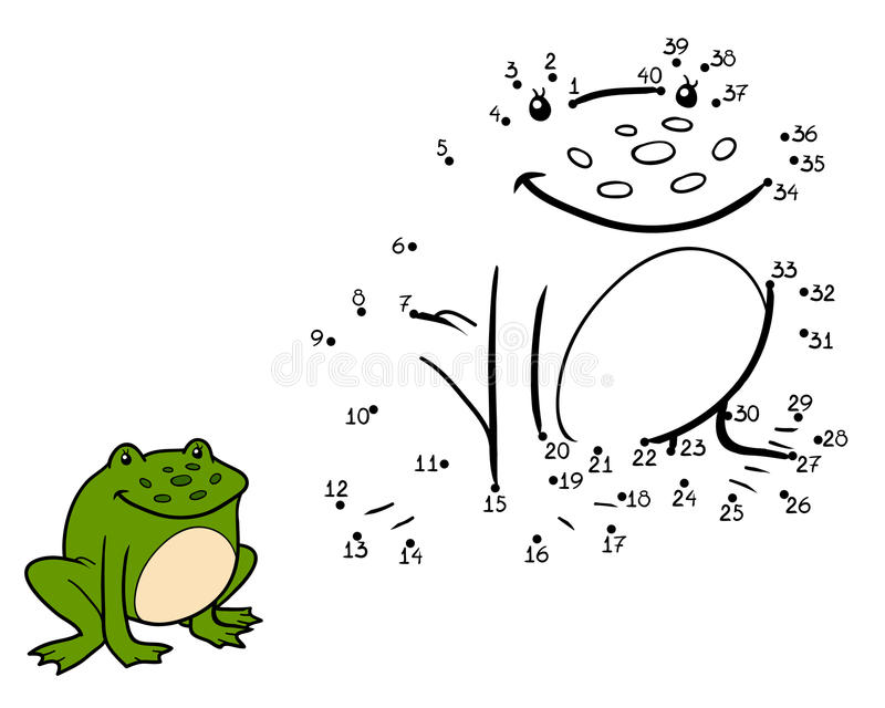 Zahlenspiel, Spiel Für Kinder (Frosch) Vektor Abbildung ...