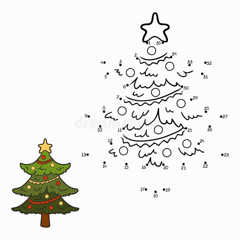 Zahlenspiel (Weihnachtsbaum) stock abbildung