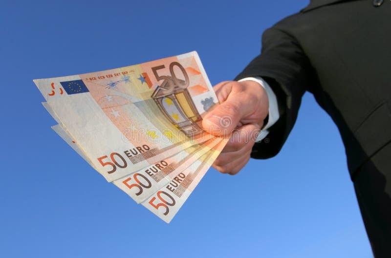 Zahlung in den Euro lizenzfreies stockbild