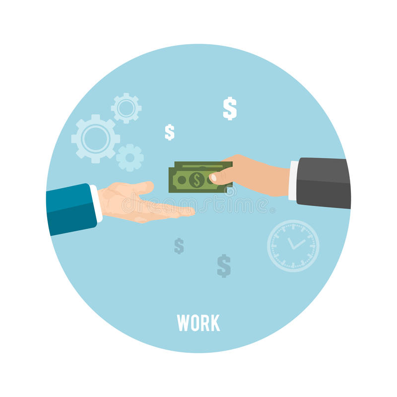 Zahlung der Arbeit lizenzfreie abbildung