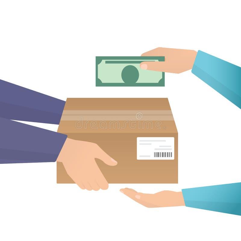 Zahlung durch Bargeld lizenzfreie abbildung