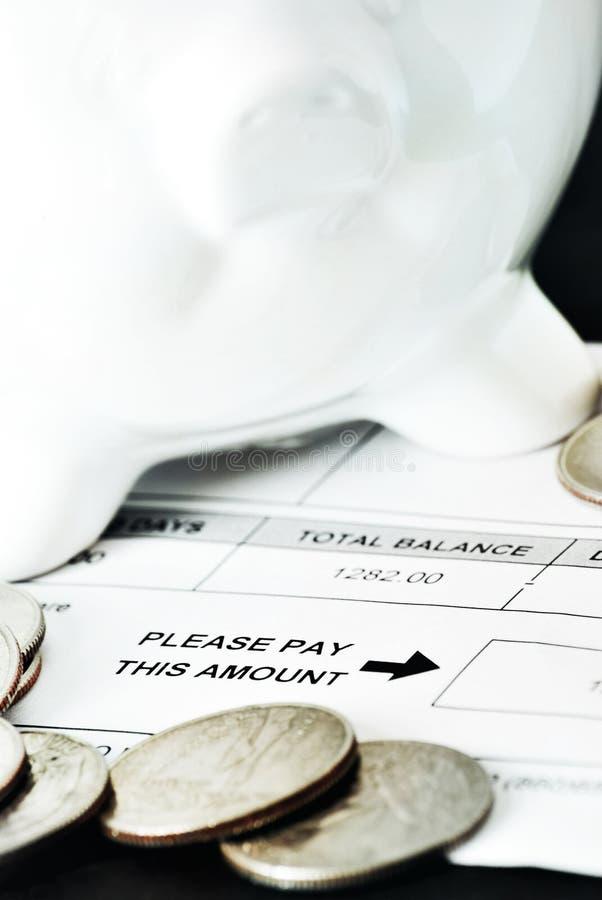 Zahlung fällig stockbild