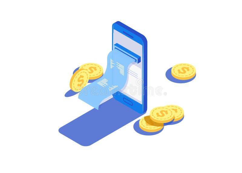 Zahlung mittels der Zahlungen lizenzfreie abbildung