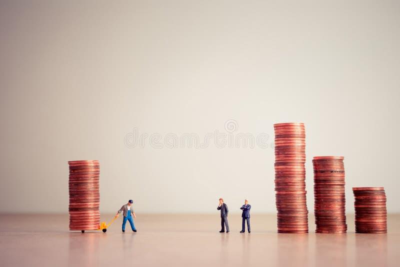 Zahlung von Schulden Geschäft und Geldkonzept stockbild