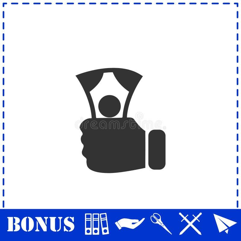 Zahlungs-Ikone flach lizenzfreie abbildung