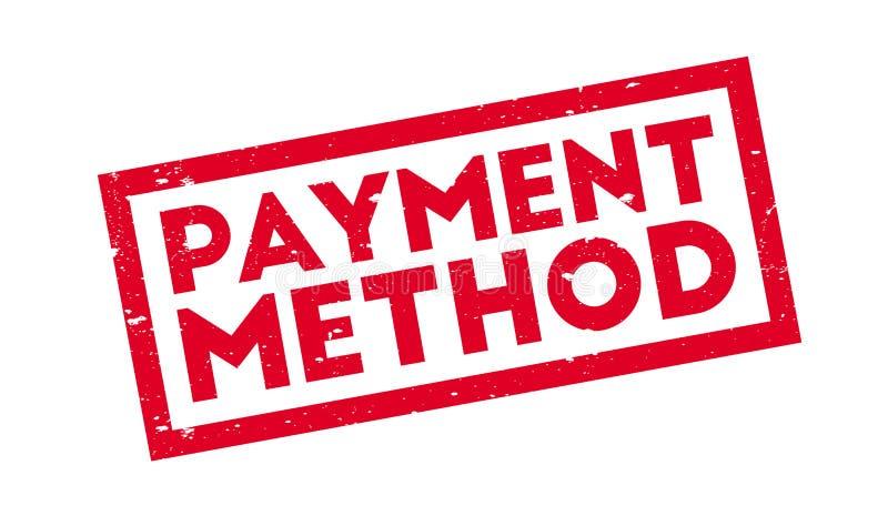 Zahlungs-Methodenstempel lizenzfreie abbildung