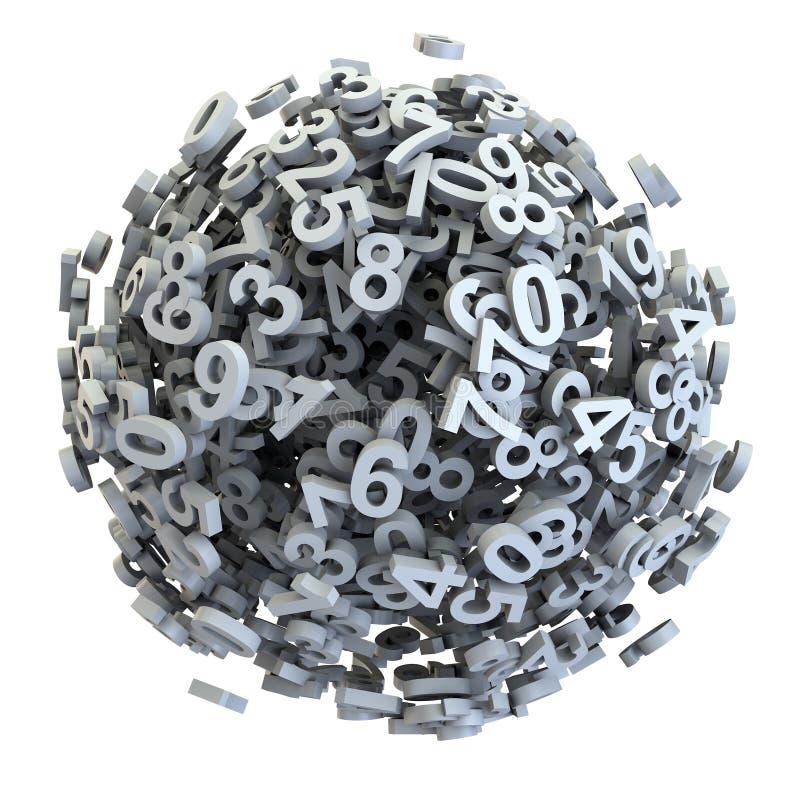 Zahlverwirrung stock abbildung