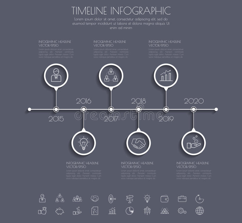 Zahlzeitachseschablone/-graphik oder -netze des Farbschritt-Designs saubere lizenzfreie abbildung