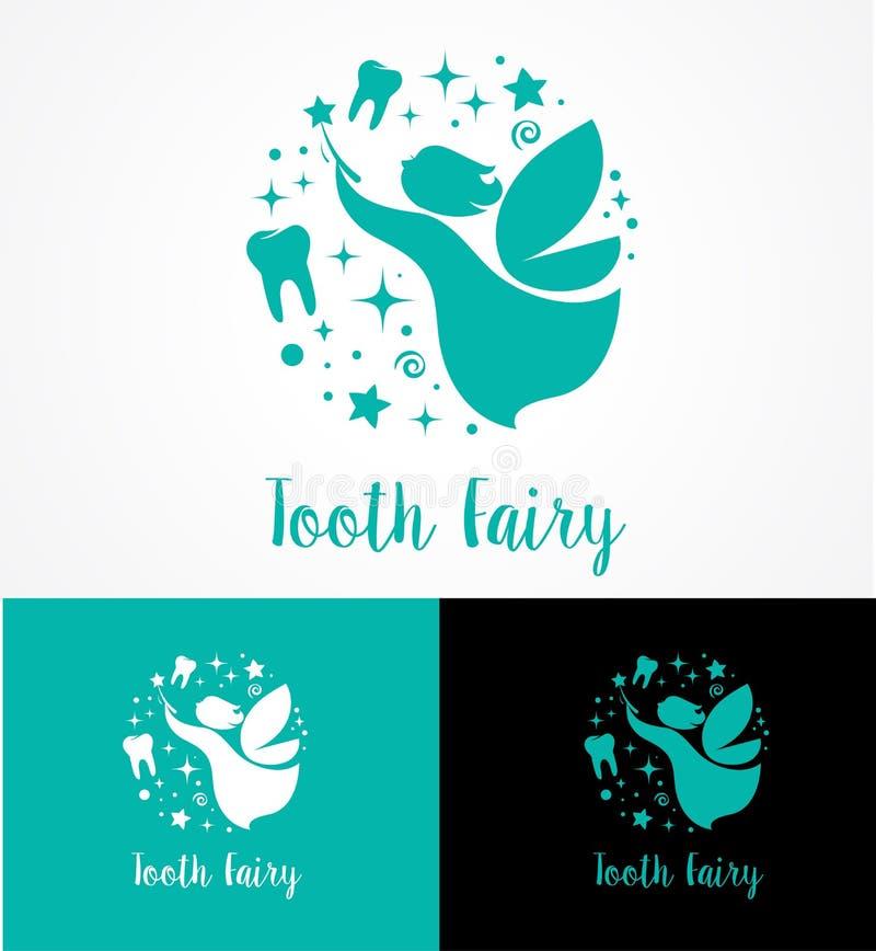Zahn-Fee mit magischem Stab - machen Sie eine Wunschikone und -symbol stock abbildung