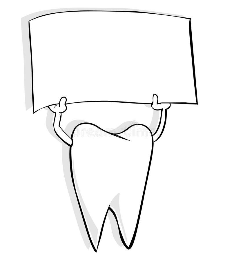 Zahn mit Fahne stock abbildung