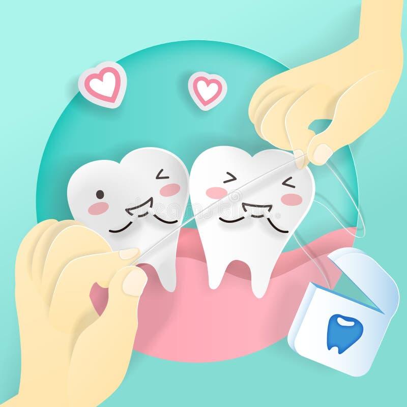 Zahn mit Glasschlacke stock abbildung