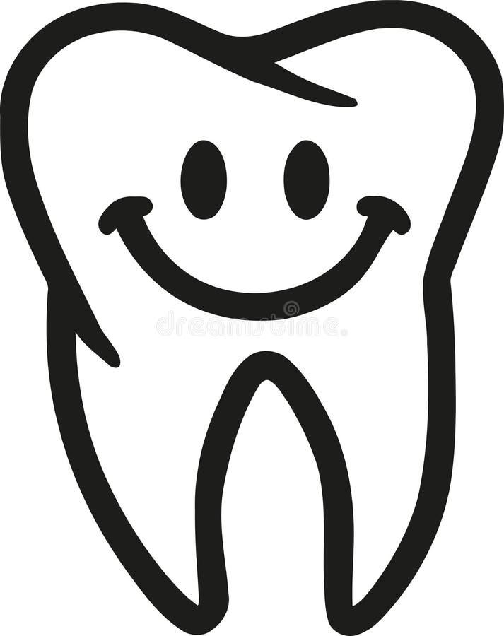 Zahn mit Lächeln stock abbildung