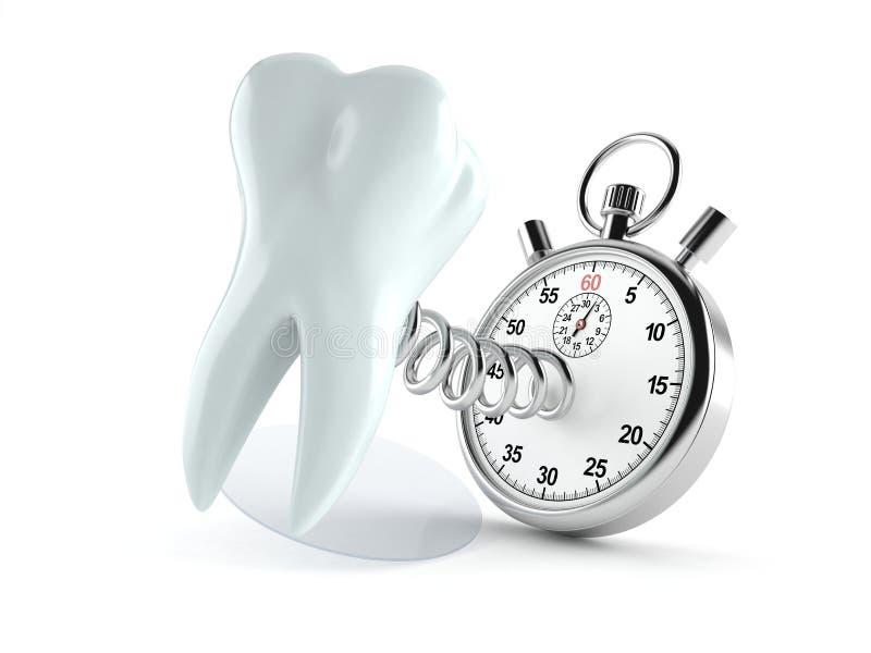 Zahn mit Stoppuhr stock abbildung