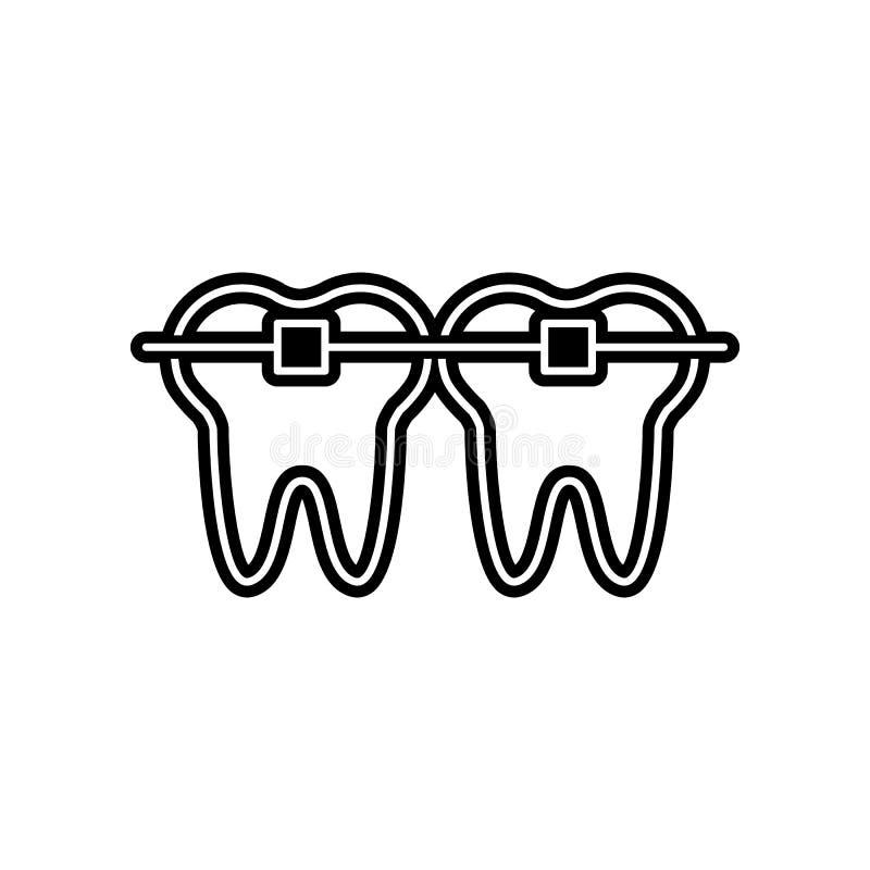 Zahn st?tzt Ikone ab Element von Dantist f?r bewegliches Konzept und Netz Appsikone Glyph, flache Ikone f?r Websiteentwurf und En stock abbildung
