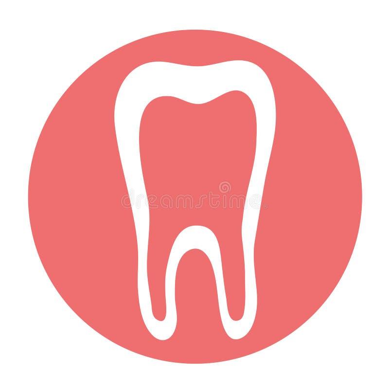 Zahn und Gummi auf einem rosa Hintergrund ikone zahnheilkunde lizenzfreie abbildung