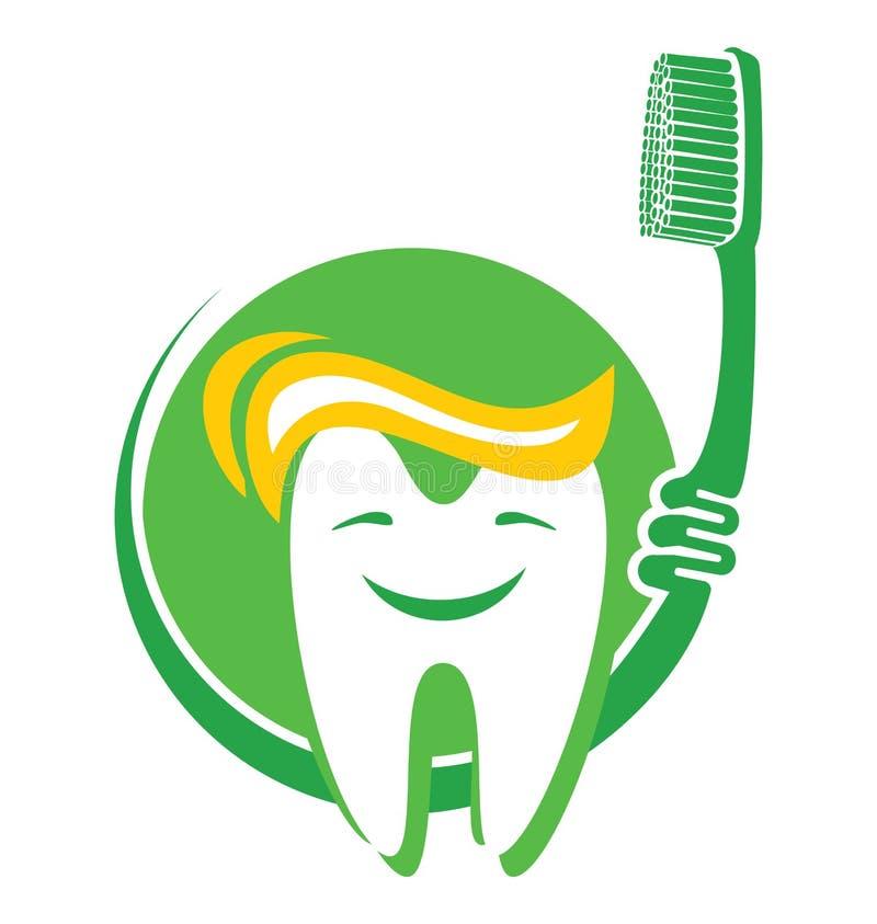Zahn und Zahnbürste lizenzfreie abbildung