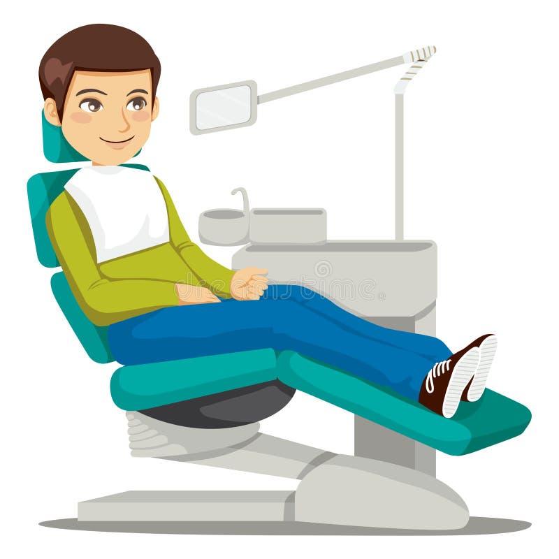 Am Zahnarzt lizenzfreie abbildung
