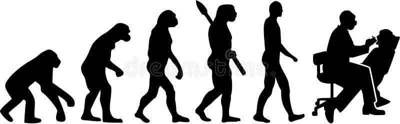 Zahnarzt-Evolutions-Vektor lizenzfreie abbildung