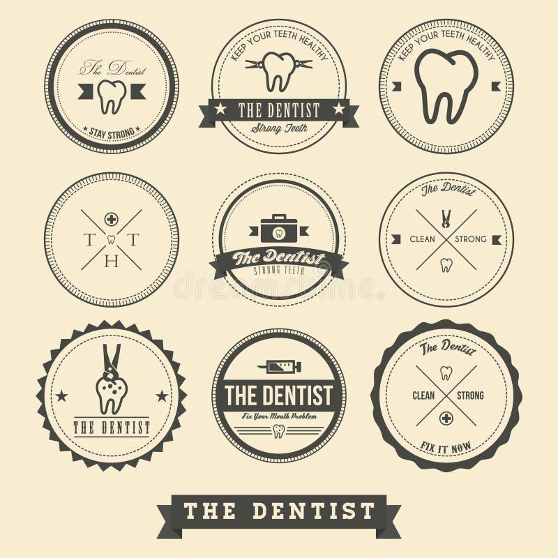 Zahnarzt Label Design vektor abbildung