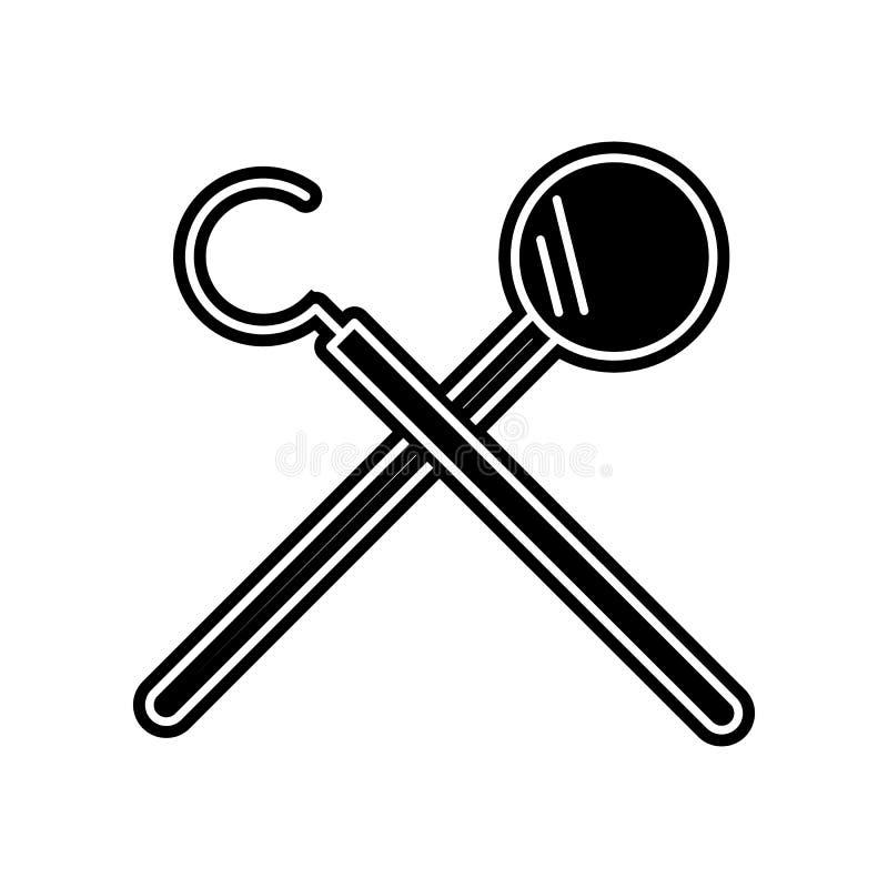 Zahnarzt-Tools-Ikone Element von Dantist f?r bewegliches Konzept und Netz Appsikone Glyph, flache Ikone f?r Websiteentwurf und En stock abbildung