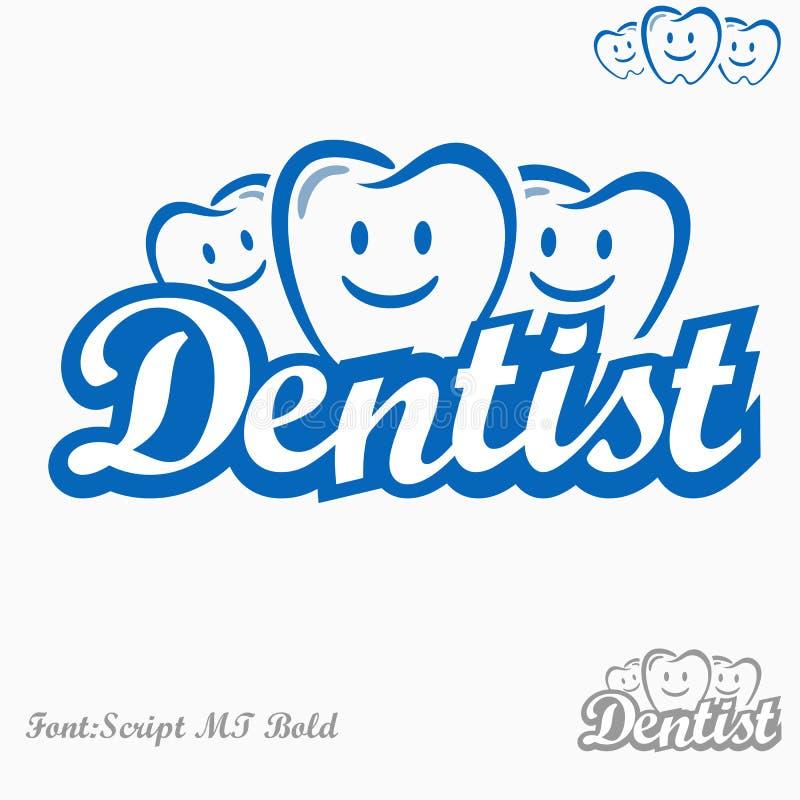 Zahnarztlogo lizenzfreie abbildung