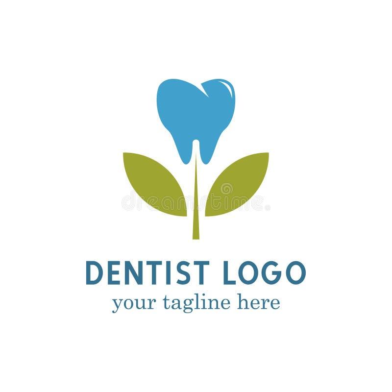 Zahnarztlogo Vektor Art Logo Template und Illustration lizenzfreie abbildung