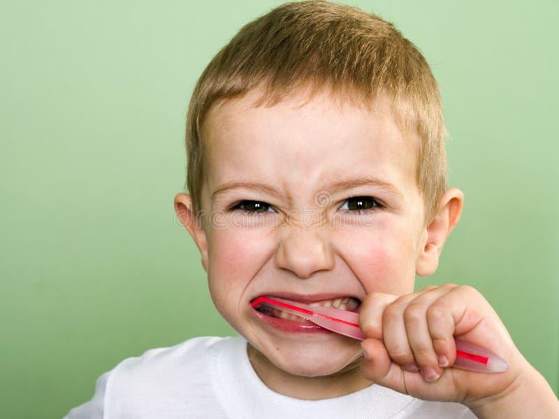 Zahnauftragen stockbilder