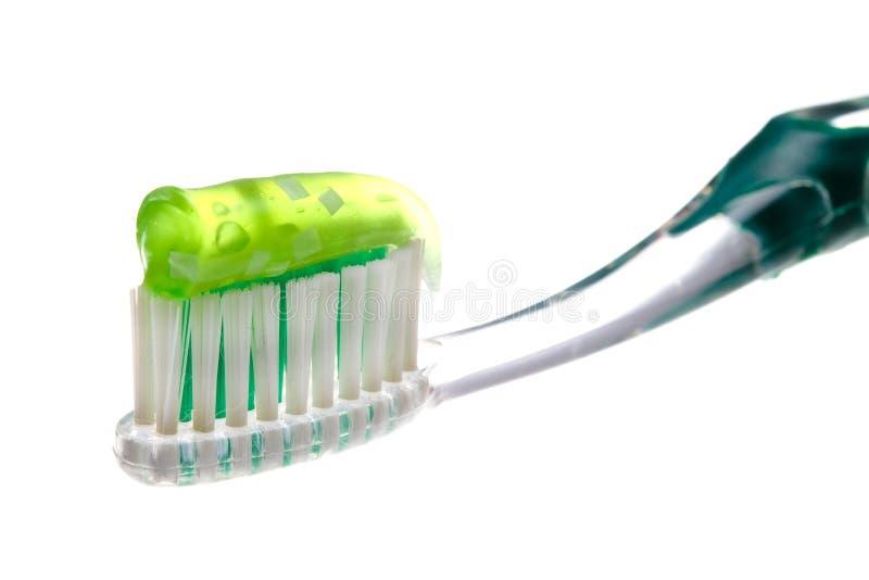 Zahnbürste und Paste lizenzfreie stockfotos
