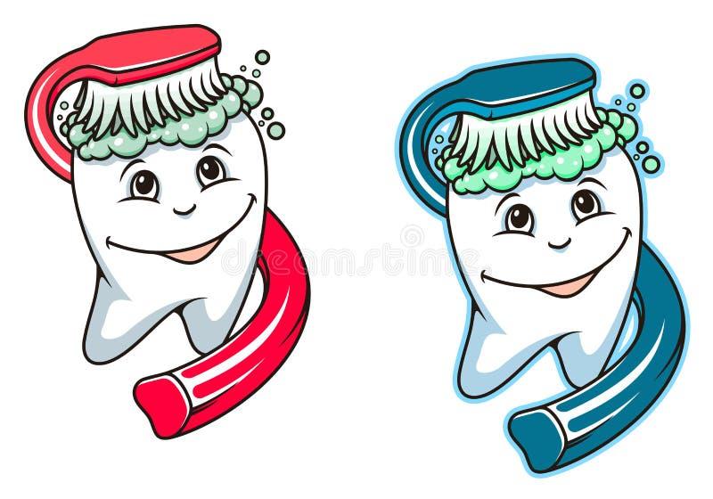 Zahnbürste und zahnmedizinische Paste stock abbildung