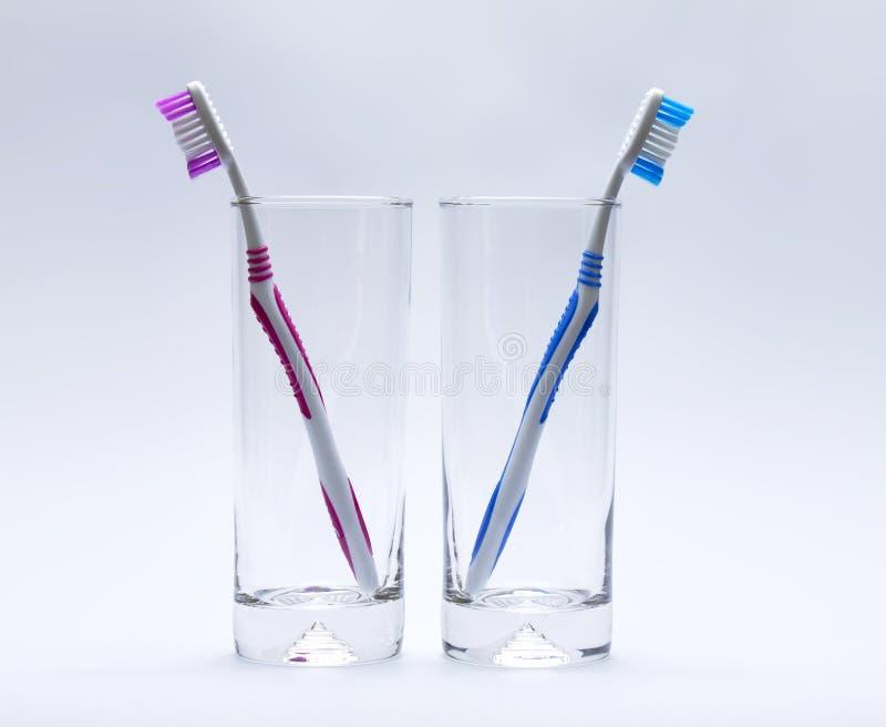 Zahnbürste zwei lizenzfreie stockfotografie